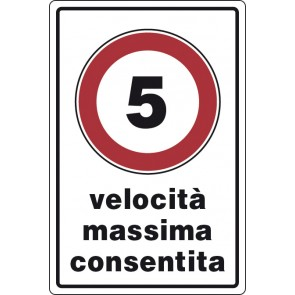 CART.ALL. velocita' max consentita 5 km