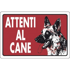 CART.ALL. Attenti al cane (fondo rosso)