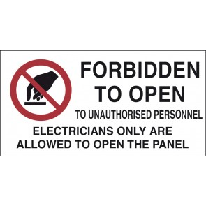 FORBIDDEN TO OPEN TO UNAUTHORISED PERSON