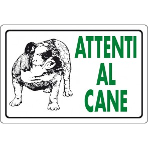 CART.ALL. Attenti al cane Bulldog
