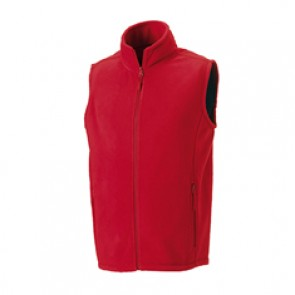 GILET PILE Russell ROSSO